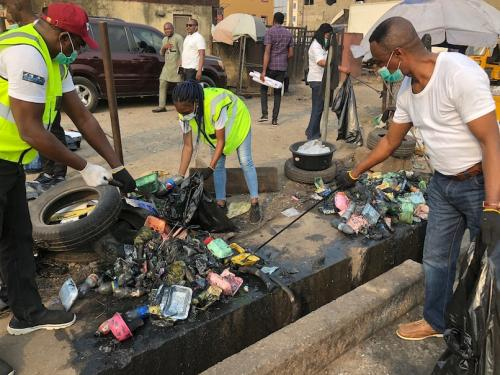 Mushin Market Place Clean-Up February 6, 2020